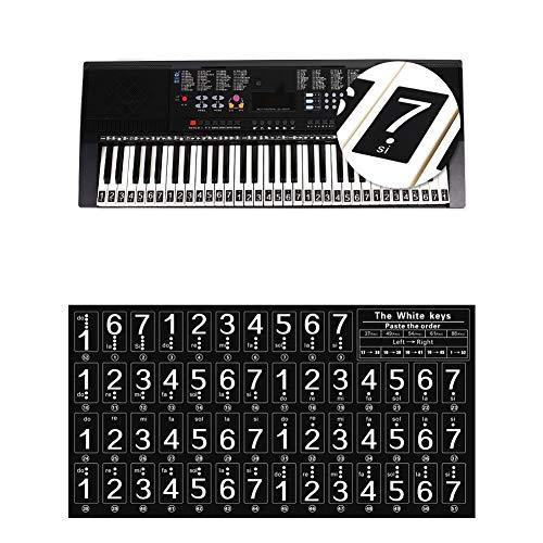RONSHIN 88/61/54 Teclas Pegatinas Teclado Piano Universal