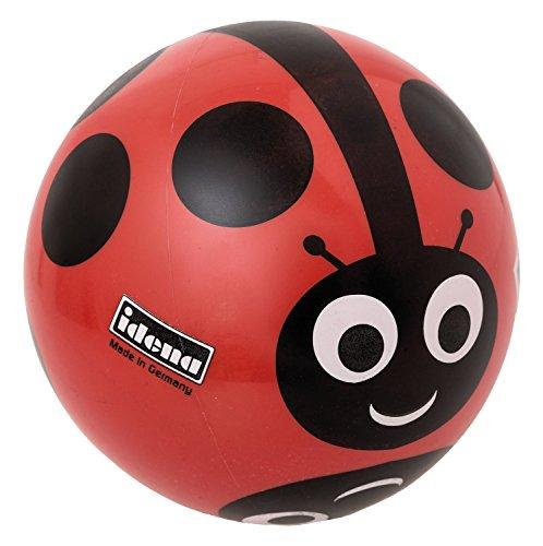 Idena 7355043 - Spielball, Motiv Marienkäfer, 22 cm (Marienkäfer-fußball-ball)