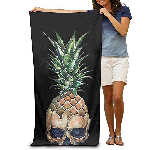 Ananas mit Totenkopf absorbierenden Quick Dry Travel Beach Decke Pool Bad Übergroße Strandtuch 31,5in51.2in