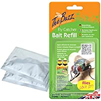 The Buzz Fly Catcher Bait Refill with Super Effective Insect Attractant, Covers up to 10 m Radius - 3 Packs (4 g Each)
