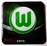 Coca Cola Zero - Fußballvereine - VfL Wolfsburg - Kühlschrankmagnet 6 x 6 cm