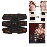 WSJ EMS Stimolatore Muscolare, Addestratore Elettrico ABS, Addominale Cintura Addome/Modalità Vita E USB Ricaricabile, Body Fitness Attrezzature Esercizio (Uomini/Donne)