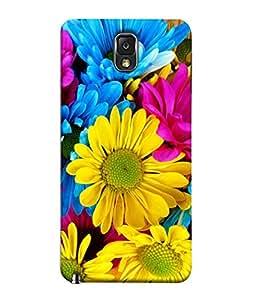FUSON Designer Back Case Cover for Samsung Galaxy Note 3 :: Samsung Galaxy Note Iii :: Samsung Galaxy Note 3 N9002 :: Samsung Galaxy Note 3 N9000 N9005 (Multi Colour Flowers Fool Pushp)
