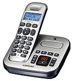 Audioline Master 380 DECT ECO-Mode Schnurlostelefon mit Anrufbeantworter silber