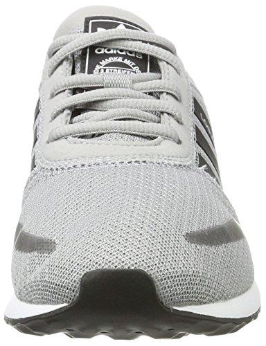 adidas Unisex-Kinder Los Angeles J Laufschuhe Mehrfarbig (Mid Grey S14/core Black/ftwr White)