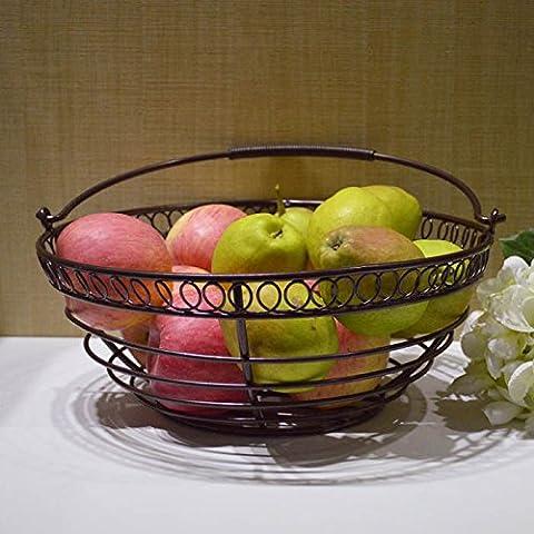 Eisen - Korb Metall Lagerung Korb Korb Obst Obst.,Bronze