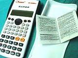 Calculadora científica kenko & sharp doble linea de cálculo precio Ingrosso Color Tapa Duro Blanco y Borde Negro