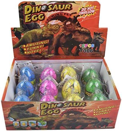 Yeelan Éclosion Dino Dinosaure dragon Hatch-Grow Oeufs de grande taille Pack of 12 PCS, le crack coloré | Divers Les Types Et Les Styles