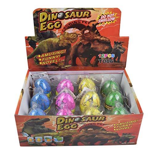 Yeelan Schraffur Dino Dinosaurier Drachen Luke-Grow Eier große Größe Pack von 12PCS, Bunte Crack (Spiele Ei Schlüpfen Dinosaurier)