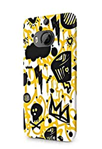 Cover Affair Funky / Cool / Funny Cartoon Printed Designer Slim Light Weight Back Cover Case for HTC One M9 Plus / HTC M9 Plus / HTC M9+