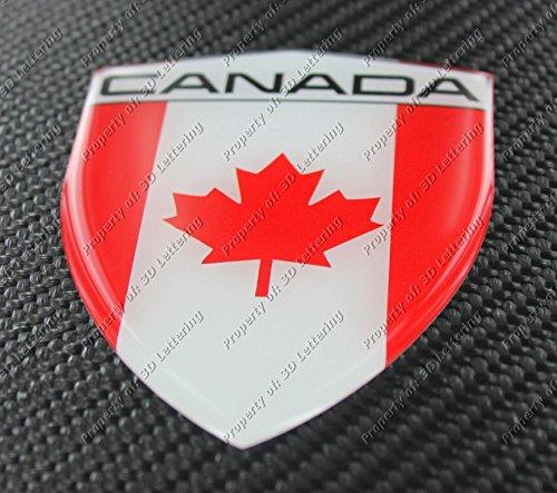 Kanada Flagge 3D Aufkleber Aufkleber groß (Kanada Aufkleber)