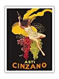 Asti Cinzano - Asti - Champagne Italienne - Ancienne Affiche publicite Vintage Poster de Leonetto Cappiello c.1910 - Reproduction Professionelle d'art Master Art Print - 23cm X 31cm...
