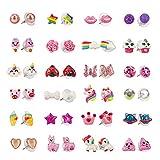 SkyWiseWin Boucles d'oreilles pour Filles Animal - Boucles d'oreilles Licorne pour...