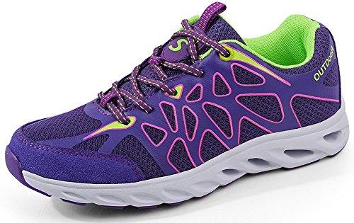 cdaa76b2f5d166 SEECEE Damen Sportschuhe Laufschuhe Ultraleicht Turnschuhe Sneaker Für  Frauen Atmungsaktiv Outdoorschuhe Freizeitschuhe Wanderschuhe Lila 40 EU