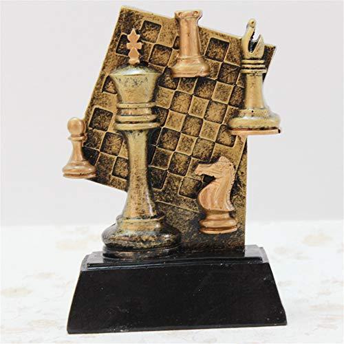Movimiento Resina Artesanía Serie Decoración Oro Ajedrez Conmemorar Creativo Trofeo Soporte Protección ambiental Resina Escultura Producto Sala de estar Arreglo de escritorio Soporte de exhibición