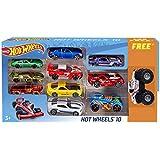 Hot Wheels Promo Pack (10 Car Pack+ 1 Monster Jam Car)