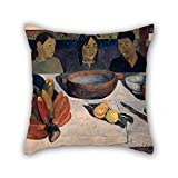 Elegancebeauty pittura a olio Paul Gauguin–il pasto federa 50,8x 50,8cm/5050cm di scelta migliore per bar sedile, lounge, Son, auto, ragazzi e ragazze, bambini ragazzi con due lati