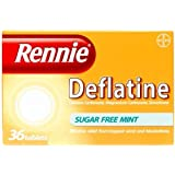 Rennie Deflatine Trapped Wind & Bloatedness Relief Tablets Sugar-Free Mint - 36 Tablets