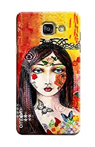 Omnam Girl With Rose Printed On Face Printed Designer Back Cover Case For Sumsang Galaxy S7