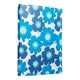 Comix A4 Porte-Vues 80 vues (40 pochettes)Motif de fleurs d'été - A526 ( Bleu )