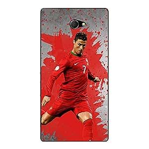 Jugaaduu Cristiano Ronaldo Portugal Back Cover Case For Sony Xperia M2