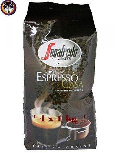 Segafredo Espresso Casa, Kaffeebohnen, 4000g (4x1kg)