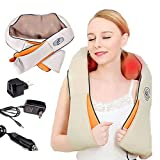 Inglis Lady Back and Neck Massager with Heat Deep Kneading Massage for Neck