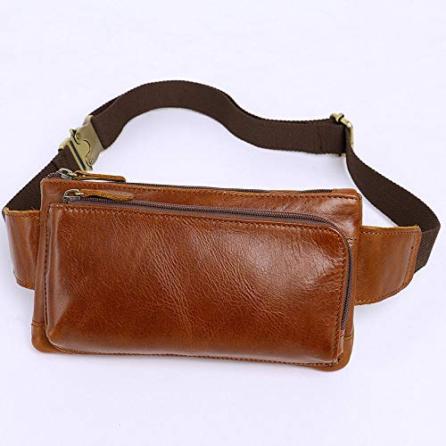 Leather Men's Bag Leather First Layer Cowhide Cross Section small Bag Shoulder diagonal Casual Oil Wax Leather Men's Pockets