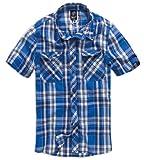 Camicia da uomo Brandit Road Star, blu XL