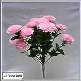 Endless-Creations - Bouquet artificiale in seta con 18 garofani rosa, adatto per matrimoni, tombe e vasi