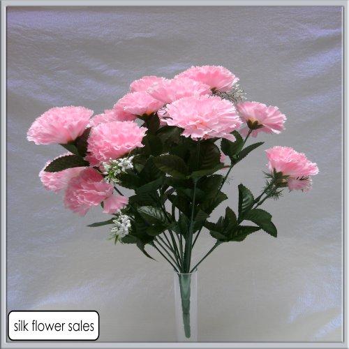 18-head-pink-carnation-artificial-silk-bush-wedding-grave-vase