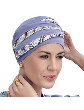 8baf4f4141823 Turbante Shanti con bambú lila con estampado Kaleidoscope para mujeres con  alopecia
