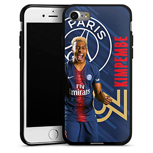 DeinDesign Apple iPhone 7 Coque en Silicone Étui Silicone Coque Souple Paris Saint-Germain Produit sous Licence Officielle Kimpembe