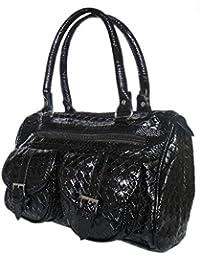 Damen Handtasche,Tasche,Shopper Schultertasche 30x20 cm,Schwarz