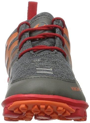 Viking - Bislett Gtx, Scarpe sportive outdoor Unisex – Bambini grigio( Carbone / rosso)