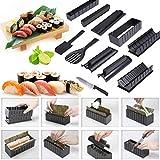 jueyan kit de préparation à sushi - kit sushis makis complet 11 pièces - avec couteau expert pour