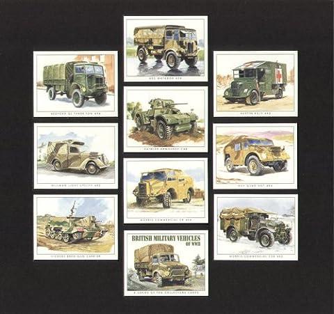 British Véhicules militaire de WW2Collectors Cartes