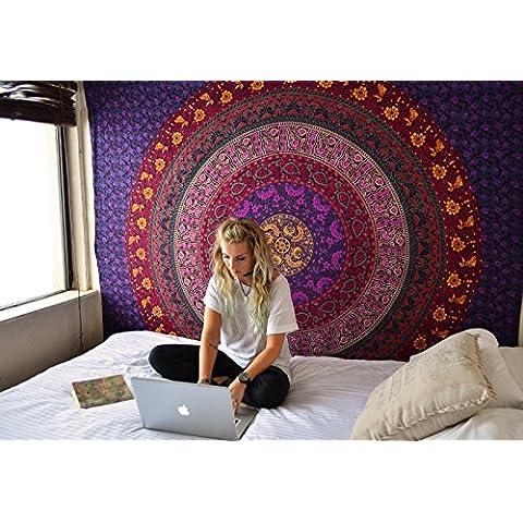 Ampliación de la tapicería del Hippie, Hippy Mandala de Bohemia, Tapices india decoración del dormitorio, Psychedelic Tapiz colgante de pared decorativo étnica