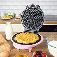 Global Gizmos Benross Waffle Maker, 1000 Watt, Fun Pink