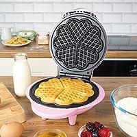 Global Gizmos Benross Waffle Maker, 1000 Watt, Fun Pink