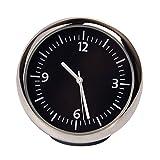 Discoball Petite horloge analogique à quartz ronde pour tableau de bord de voitures Style classique 4x4x4cm
