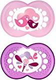 """MAM 706022 - Ciuccio """"Original"""" in silicone per bambine dai 16 mesi in su, senza BPA, confezione doppia, colori assortiti"""