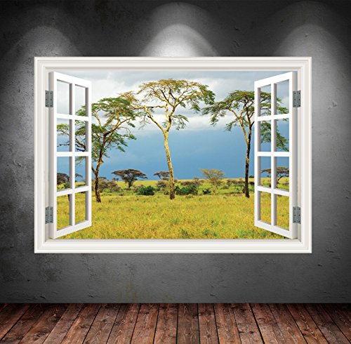 Wand Smart Designs wsd27l Wild Dschungel Baum View Full Farbe Aufkleber Aufkleber Transfer Mural Graphic Art Wand, mehrfarbig Foto Transfer-tool