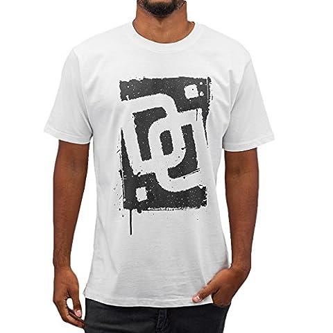 Dangerous DNGRS Men Overwear / T-Shirt Sprayed Logo Race City white S