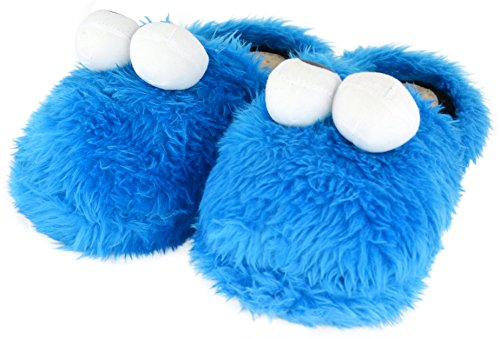 Sesame Street Cookie Monster Chaussons bleu roi Bleu