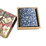Chinashow Womens/Girls Vintage Floral Print Baumwolle Taschentücher Floral Taschentuch mit Geschenkbox A20