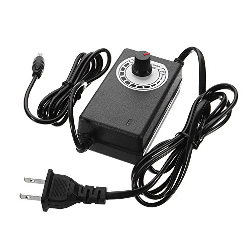ILS - Adjustable AC/DC Adapter 9-24V 1A Power Supply Motor Speed Controller -