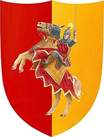 Fantashion F 09 - Ritter-Schild, Verkleiden und Kostüm, rot/orange (Ritterschild Kostüm)