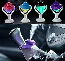 ShopyBucket Portable Diamond Shape Oil Diffuser Humidifier Purifier Freshener USB