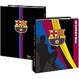 Classeur A4 Barça - Collection officielle FC BARCELONE - football Fc Barcelona - Cartonné - Epaisseur 4 cm 4 anneaux